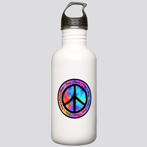 Distorted Peace Sign Stainless Water Bottle 1.0L