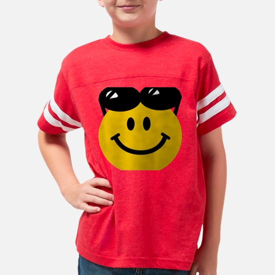 Perched Sunglasses Smiley Youth Football Shirt