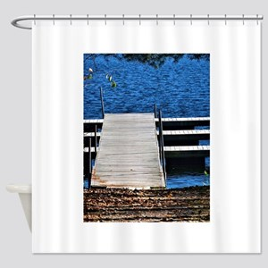 Lake Dock Shower Curtain