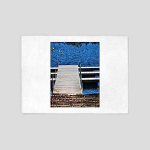 Lake Dock 5'x7'Area Rug