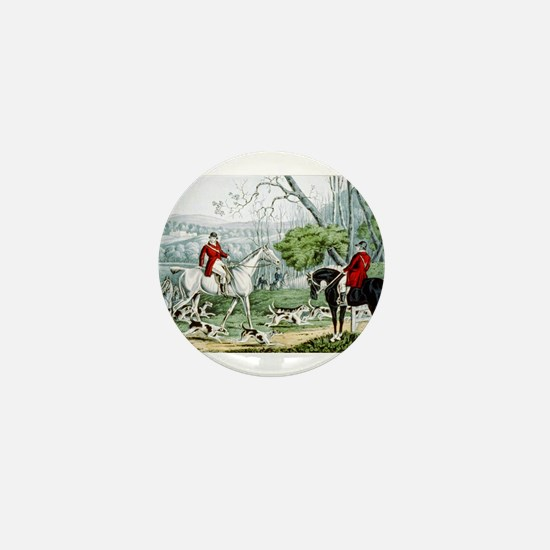 Fox chase - Throwing off - 1846 Mini Button