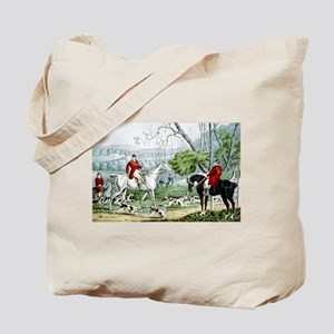Fox chase - Throwing off - 1846 Tote Bag