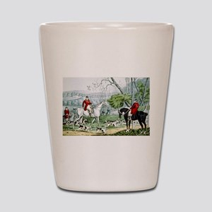 Fox chase - Throwing off - 1846 Shot Glass