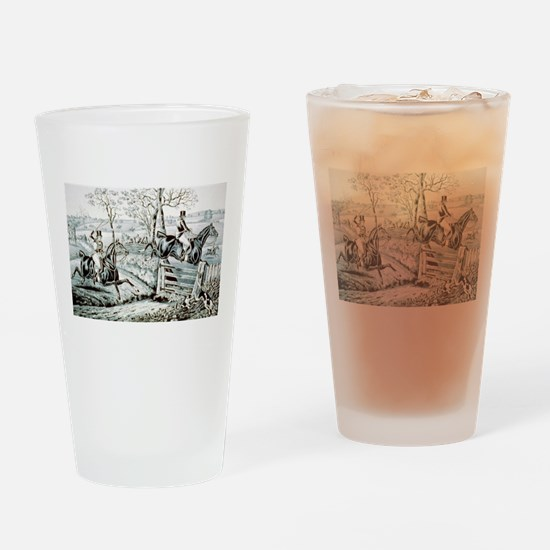 Fox chase - In full cry - 1846 Drinking Glass