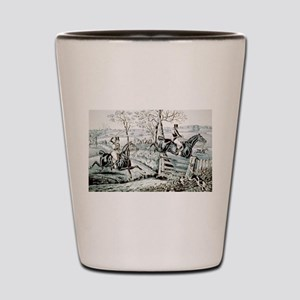 Fox chase - In full cry - 1846 Shot Glass