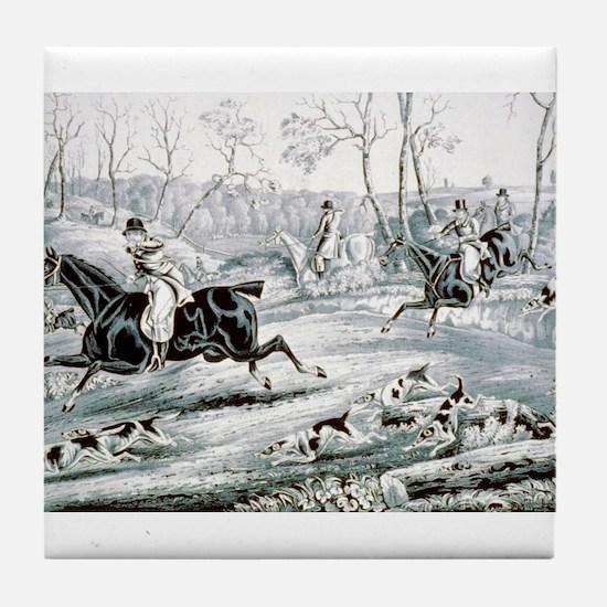 Fox chase - Gone away - 1846 Tile Coaster