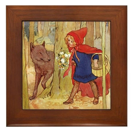 Tarrant's Red Riding Hood Framed Tile