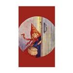 Tarrant's Red Riding Hood Rectangle Sticker