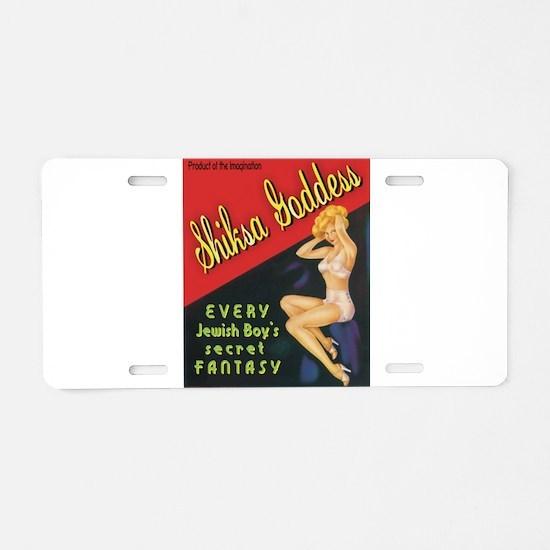 Cute Mitzvah Aluminum License Plate