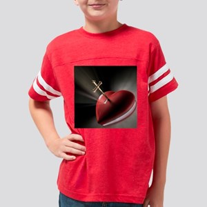 Open Heart with Key Youth Football Shirt