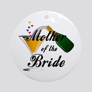 mother of bride black Ornament (Round)