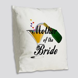 mother of bride black Burlap Throw Pillow