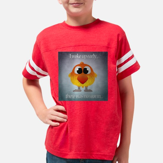Early Bird Catches No Worm Youth Football Shirt