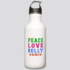Peace Love Belly Dance Stainless Water Bottle 1.0L