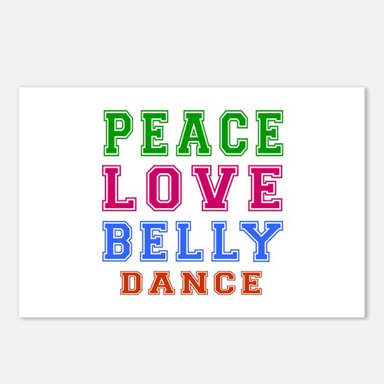 Peace Love Belly Dance Postcards (Package of 8)