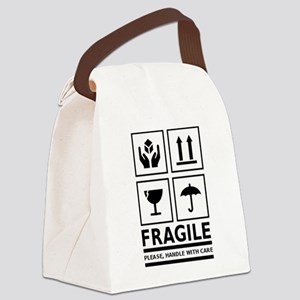 Fragile Please Handle With Care Canvas Lunch Bag