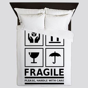 Fragile Please Handle With Care Queen Duvet