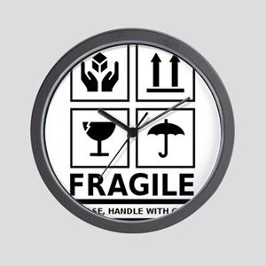 Fragile Please Handle With Care Wall Clock