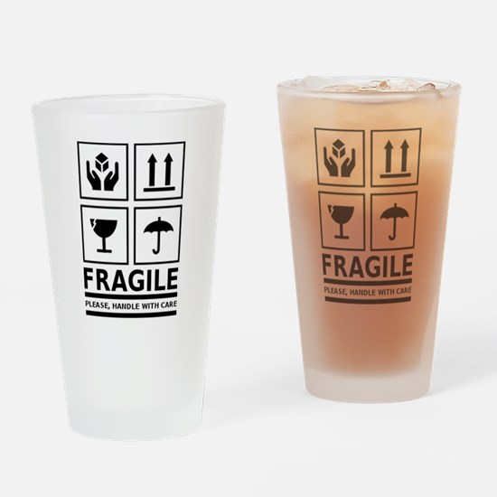 Fragile Please Handle With Care Drinking Glass