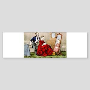 An artist in hair - 1871 Sticker (Bumper)
