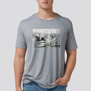 Fox chase - Gone away - 1846 Mens Tri-blend T-Shir