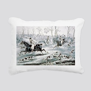 Fox chase - Gone away - 1846 Rectangular Canvas Pi