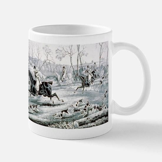 Fox chase - Gone away - 1846 Mug