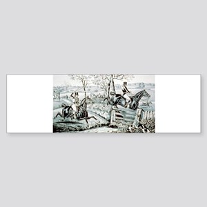 Fox chase - In full cry - 1846 Sticker (Bumper)