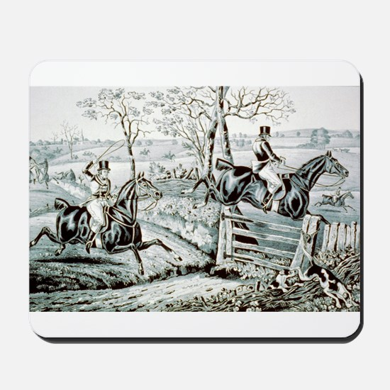 Fox chase - In full cry - 1846 Mousepad