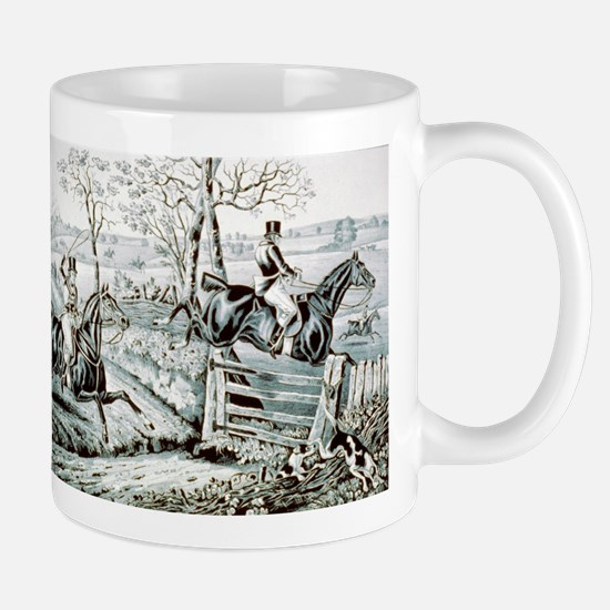 Fox chase - In full cry - 1846 Mug