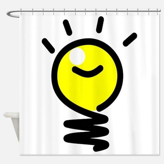 Bright Idea Light Bulb Shower Curtain