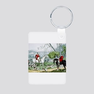 Fox chase - Throwing off - 1846 Aluminum Photo Key