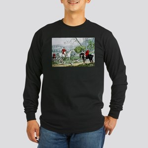 Fox chase - Throwing off - 1846 Long Sleeve Dark T