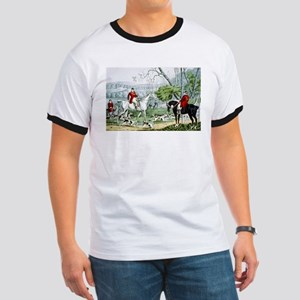 Fox chase - Throwing off - 1846 Ringer T