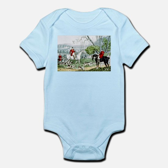 Fox chase - Throwing off - 1846 Infant Bodysuit