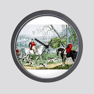Fox chase - Throwing off - 1846 Wall Clock