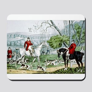 Fox chase - Throwing off - 1846 Mousepad