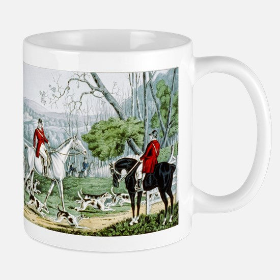Fox chase - Throwing off - 1846 Mug