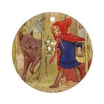 Tarrant's Red Riding Hood Ornament (Round)