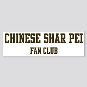 Chinese Shar Pei Fan Club Bumper Sticker