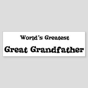 World's Greatest: Great Grand Bumper Sticker