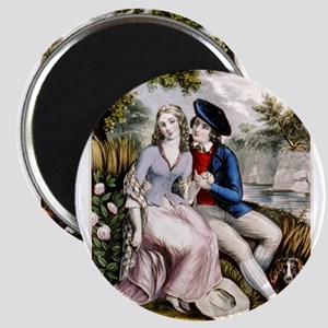 Robert Burns and his highland Mary - 1846 Magnet