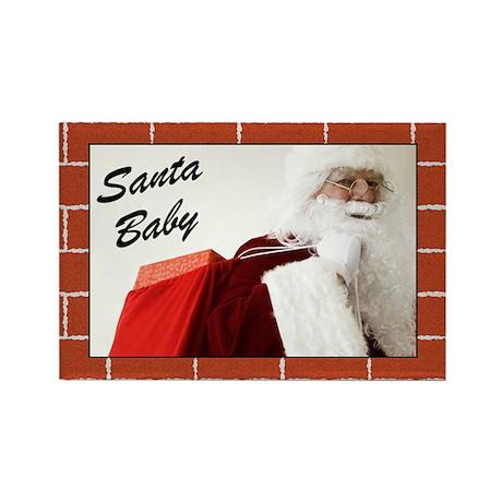 Santa Baby Christmas Rectangle Magnet