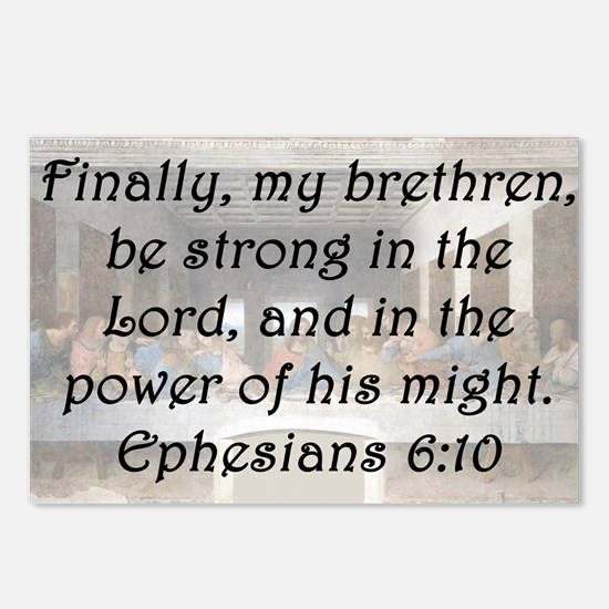 Ephesians 6:10 Postcards (Package of 8)