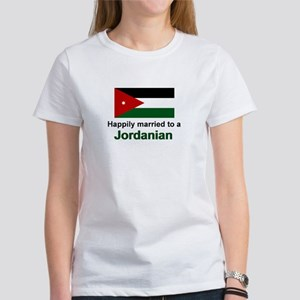 Happily Married To A Jordanian Women's T-Shirt