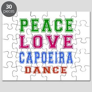 Peace Love Capoeira Dance Puzzle