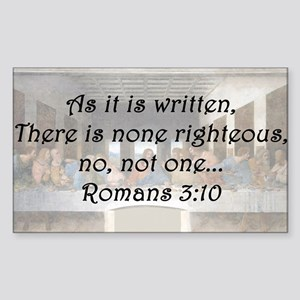 Romans 3:10 Sticker