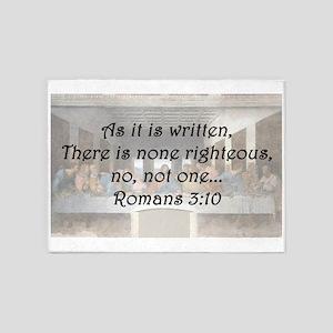 Romans 3:10 5'x7'Area Rug