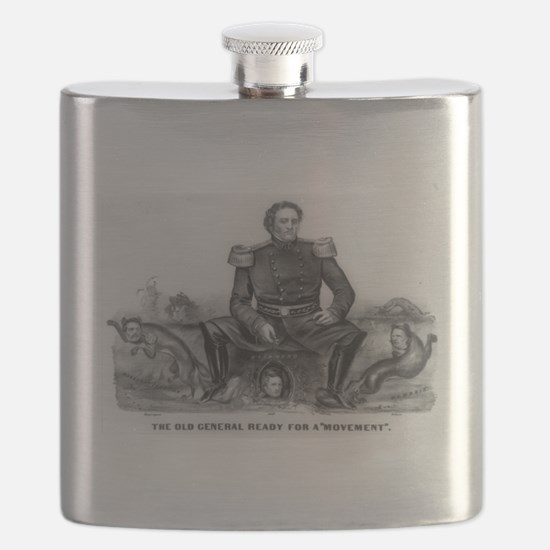 The old general ready for a movement - 1861 Flask