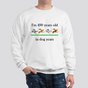 70 birthday dog years 1 Sweatshirt